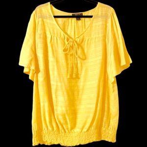 Beautiful yellow blouse 18 NWOT